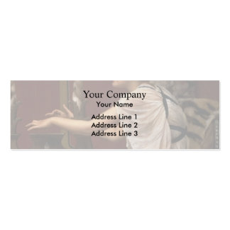 John William Godward- The Muse Erato at her Lyre Business Card Template