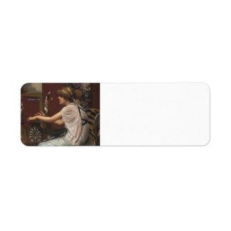 John William Godward- The Muse Erato at her Lyre Custom Return Address Labels