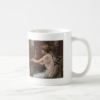 John William Godward- The Muse Erato at her Lyre Coffee Mug
