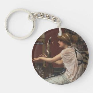 John William Godward- The Muse Erato at her Lyre Single-Sided Round Acrylic Keychain