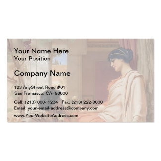 John William Godward- The Old, Old Story Double-Sided Standard Business Cards (Pack Of 100)