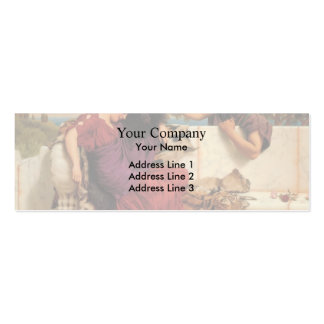 John William Godward- The Old, Old Story Double-Sided Mini Business Cards (Pack Of 20)