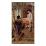 John William Godward - The old old story Print