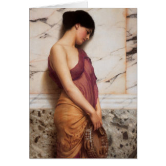 John William Godward - The tambourine girl Card