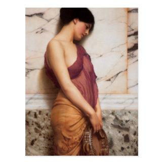 John William Godward - The tambourine girl Postcard