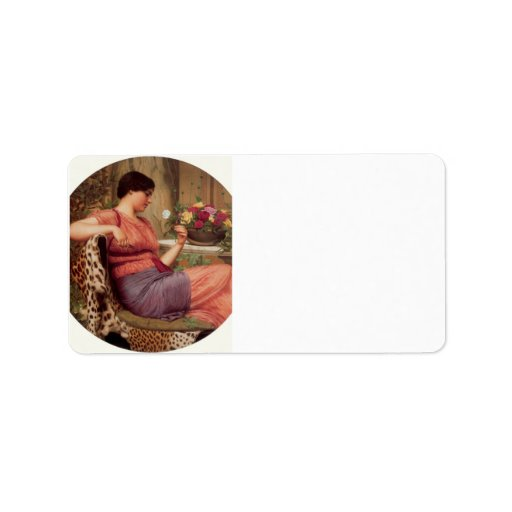 John William Godward - The time of roses Personalized Address Labels