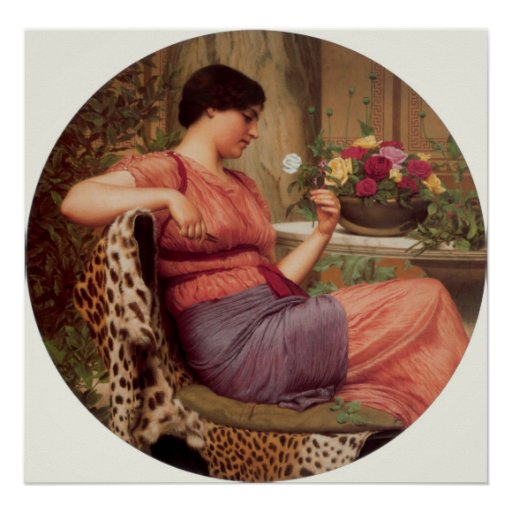 John William Godward - The time of roses Posters