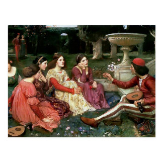John William Waterhouse- A Tale from the Decameron Postcard