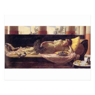John William Waterhouse - Dolce Niente lejano Postales