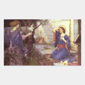 John William Waterhouse - el anuncio Pegatina Rectangular