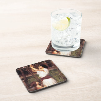 John William Waterhouse- Gathering Almond Blossoms Beverage Coasters