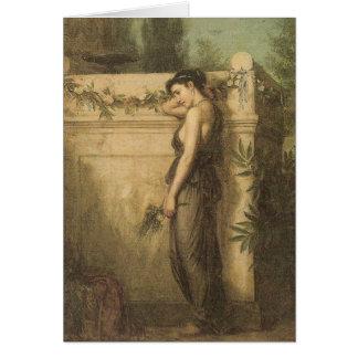 John William Waterhouse - Gone But Not Forgotten Card