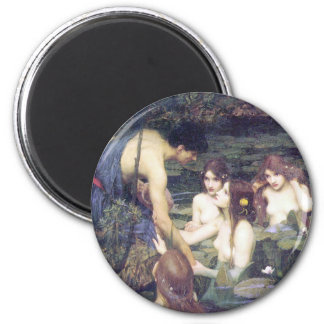 John William Waterhouse - Hylas and the Nymphs 2 Inch Round Magnet