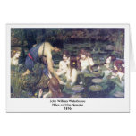 John William Waterhouse - Hylas and the Nymphs Greeting Card