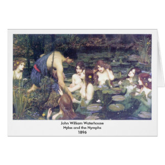 John William Waterhouse - Hylas and the Nymphs Stationery Note Card