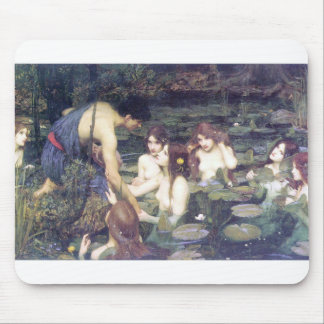 John William Waterhouse - Hylas and the Nymphs Mouse Pad
