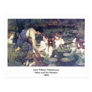 John William Waterhouse - Hylas and the Nymphs Postcard