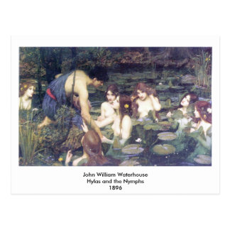 John William Waterhouse - Hylas y las ninfas Tarjetas Postales
