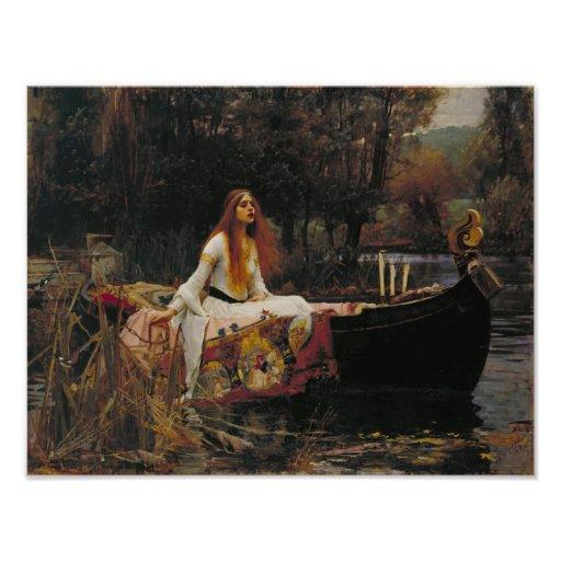 John William Waterhouse - la señora de Shalott Fotografia