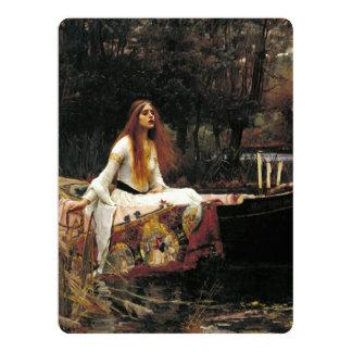 John William Waterhouse la señora Of Shalott Invitación 16,5 X 22,2 Cm