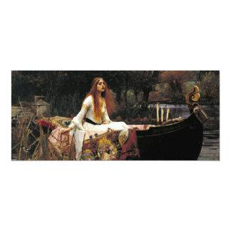 """John William Waterhouse la señora Of Shalott Invitación 4"""" X 9.25"""""""