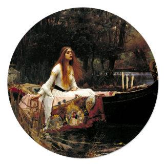 """John William Waterhouse la señora Of Shalott Invitación 5.25"""" X 5.25"""""""