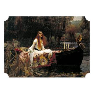 """John William Waterhouse la señora Of Shalott Invitación 5"""" X 7"""""""