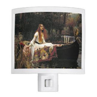 John William Waterhouse la señora Of Shalott Lámpara De Noche