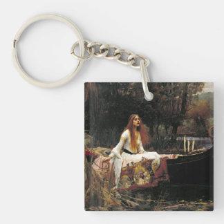 John William Waterhouse la señora Of Shalott Llavero Cuadrado Acrílico A Doble Cara