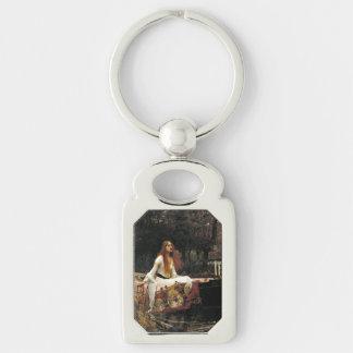John William Waterhouse la señora Of Shalott Llavero Plateado Rectangular
