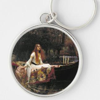 John William Waterhouse la señora Of Shalott Llavero Redondo Plateado