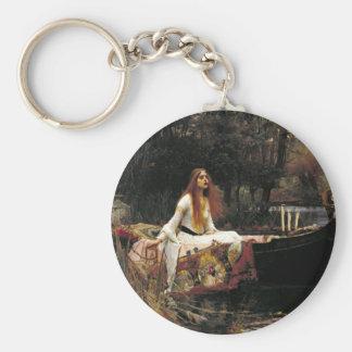 John William Waterhouse la señora Of Shalott Llavero Redondo Tipo Pin