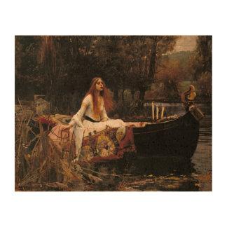 John William Waterhouse la señora Of Shalott Impresión En Corcho