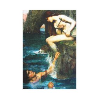 John William Waterhouse la sirena Impresión En Lienzo Estirada