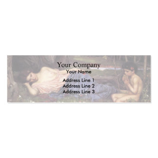 John William Waterhouse-Listen to my Sweet Pipings Business Cards