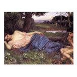 John William Waterhouse-Listen to my Sweet Pipings Postcard