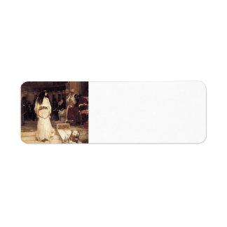 John William Waterhouse- Mariamne Leaving Label