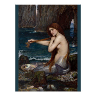John William Waterhouse Mermaid CC0795 Poster