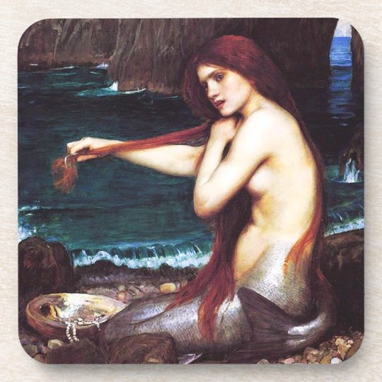 John William Waterhouse Mermaid Coasters