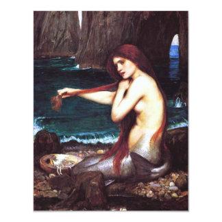 John William Waterhouse Mermaid 4.25x5.5 Paper Invitation Card