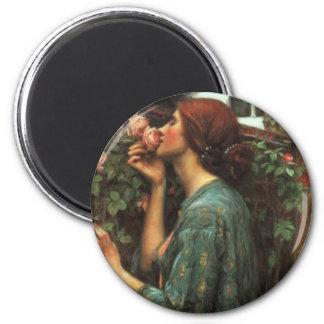 John William Waterhouse, mi Rose dulce (1903) Imán Redondo 5 Cm