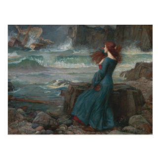 John William Waterhouse - Miranda - The Tempest Postcard