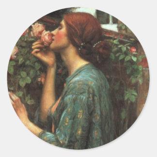 John William Waterhouse, My Sweet Rose (1903) Classic Round Sticker