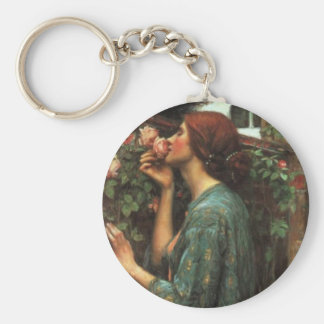 John William Waterhouse, My Sweet Rose (1903) Keychain