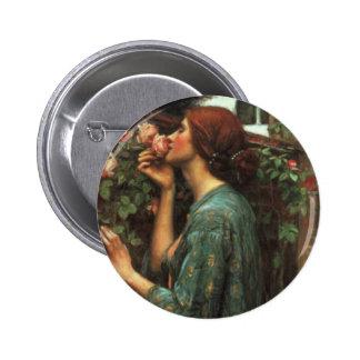 John William Waterhouse, My Sweet Rose (1903) Pinback Button