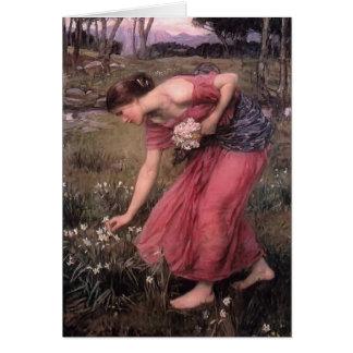 John William Waterhouse- Narcissus Card