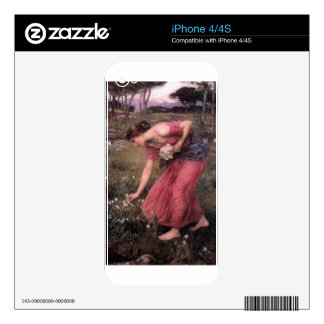 John William Waterhouse - Narcissus - Fine Art Decals For iPhone 4S