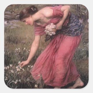 John William Waterhouse- Narcissus Square Sticker