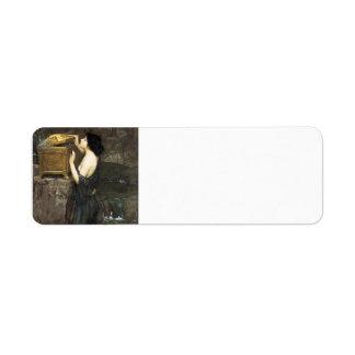 John William Waterhouse- Pandora Label