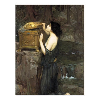 John William Waterhouse- Pandora Postcard